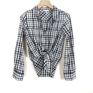 Joie Cartel Check Cotton Button Down Shirt